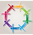 symbol teamwork vector image vector image