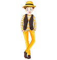 tall man in yellow pants vector image vector image