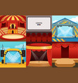 theatre cinema circus concert stages collection vector image