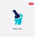 two color bones joint icon from human body parts vector image vector image