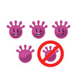violet virus bacteria microbe character mascot vector image vector image
