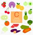 vitamin c infographic element vector image vector image