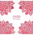 Watercolor pink lace floral patterns on white vector image vector image