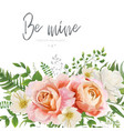 wedding invite greeting card floral art design vector image
