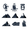white background elements for camping adventure vector image vector image