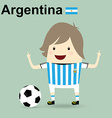 world cup 2014 argentina national football team vector image vector image