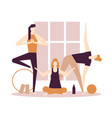 yoga practice - flat design style colorful vector image vector image
