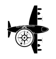 airplane and compass icon vector image