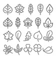 leaf icon set linear isolate vector image
