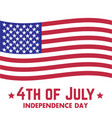 4th of july independence day in usa vector image vector image
