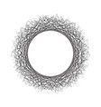 abstract circle with curved lines design element vector image vector image