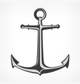 anchor on white vector image vector image