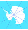 antarctic south pole map antarctica land vector image