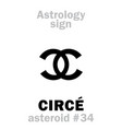 astrology asteroid circe vector image vector image