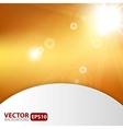 Autumn abstract background with sunburst flare vector image vector image