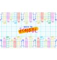 back to school children hand cartoon banner vector image vector image