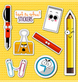 back to school stickers vector image vector image