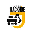 backhoe logo design excavator equipment service vector image vector image