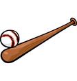 baseball ball and bat cartoon clip art vector image vector image