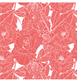 beautiful seamless pink pattern with roses vector image vector image