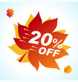 bright banner for autumn sale discount offer vector image vector image