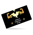 Business card for the gym vector image vector image