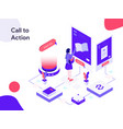Call to action isometric modern flat design