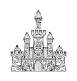 Castle coloring book for adults vector image vector image