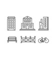 city street elements set urban infrastructure vector image