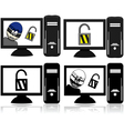 Computer security vector image vector image
