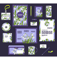 Corporate style business templates Set of spring vector image vector image