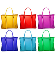 Different handbags vector image vector image