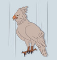 eagle on a colored background drawing color vector image vector image