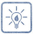 eco light bulb fabric textured icon vector image vector image