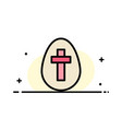 egg easter holiday sign business flat line filled vector image