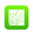 financial statistics icon digital green vector image vector image