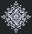 Floral swirling ornament elements vector image