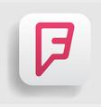 foursquare logo icon vector image vector image