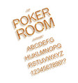 golden and red entertainment or casino letters vector image vector image