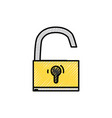 grated padlock object symbol to security vector image vector image