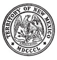 great seal state new mexico 1850 vector image vector image