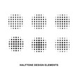 halftone dots forms vector image vector image