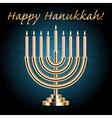 happy hanukkah card vector image vector image