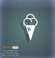 ice cream icon symbol on the blue-green abstract vector image vector image