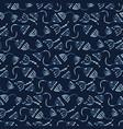 indigo blue seed berries seamless pattern vector image