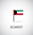 Kuwait flag pin vector image