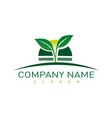 landscaping company symbol vector image vector image
