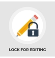 Lock for editing flat icon vector image vector image