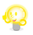 luminous lamp show thumb up vector image vector image