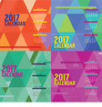 Modern Abstract 2017 Printable Calendar Starts vector image vector image